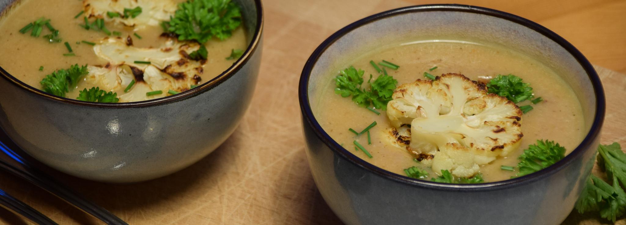 Krémová polievka z pečeného karfiolu