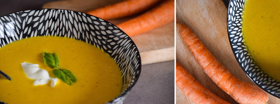 Svieža mrkvovo-pomarančová polievka